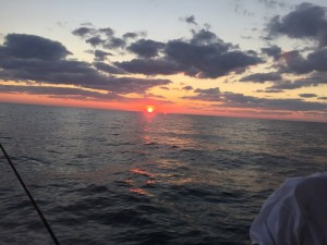 sunset Galveston Bay Texas-Fraziers guide services