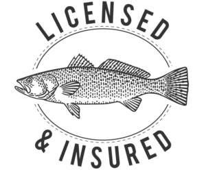 licensed and insured badge | Frazier's Guide Service
